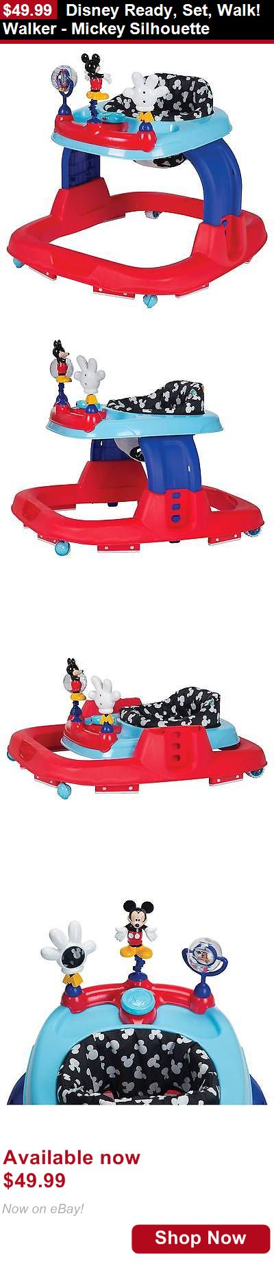 Baby walkers: Disney Ready, Set, Walk! Walker - Mickey Silhouette BUY IT NOW ONLY: $49.99