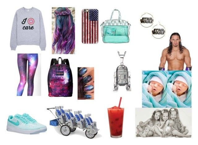 """""""taking Sophie, Jordan, London, Aaron, and Liam to see Adrian"""" by diamond-heart2016 ❤ liked on Polyvore featuring WithChic, NIKE, Neville, JanSport and Casetify"""