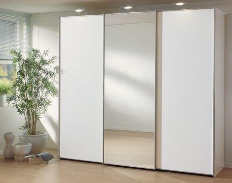 Kast: schuifdeuren Ravenna kleur : wit, een spiegeldeur merk : nolte germersheim  http://www.theobot.nl/collectie/5-slaapkamers/22-nolte-germersheim.html