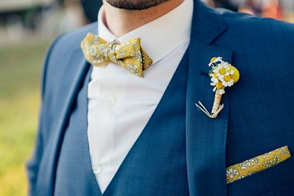 Summer Wedding Ideas - Yellow bow tie | Image by Pierre Atelier Photography