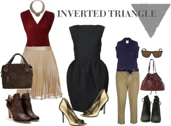 Inverted Triangle Body Type Characteristics of the inverted triangle body The mostimportantfactor when choosing what to wear is your body type, so knowing what...