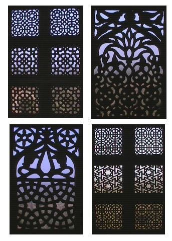 An example of how islamic pattern of jali has inspired this building facade which uses motorized screens