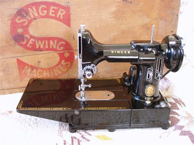 More Information about the Singer Featherweight sewing machine.