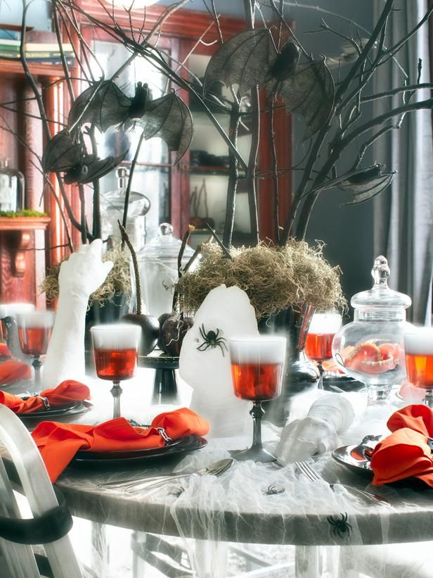 Orange You Scared? in 20+ Hip Halloween Decorating Ideas from HGTV