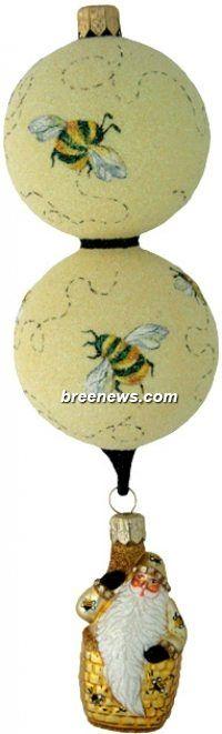 Skyward Santa Patricia Breen (Yellow, Gold, Bees, Skep, Ornament) beautiful