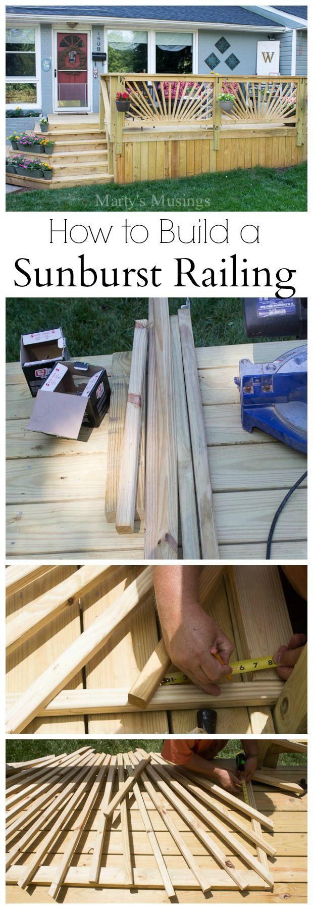 Best 25 vinyl deck railing ideas on pinterest vinyl deck vinyl sunburst deck railing baanklon Images