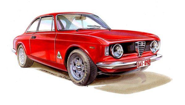 Car illustrations by Andrey Chirkov, via Behance