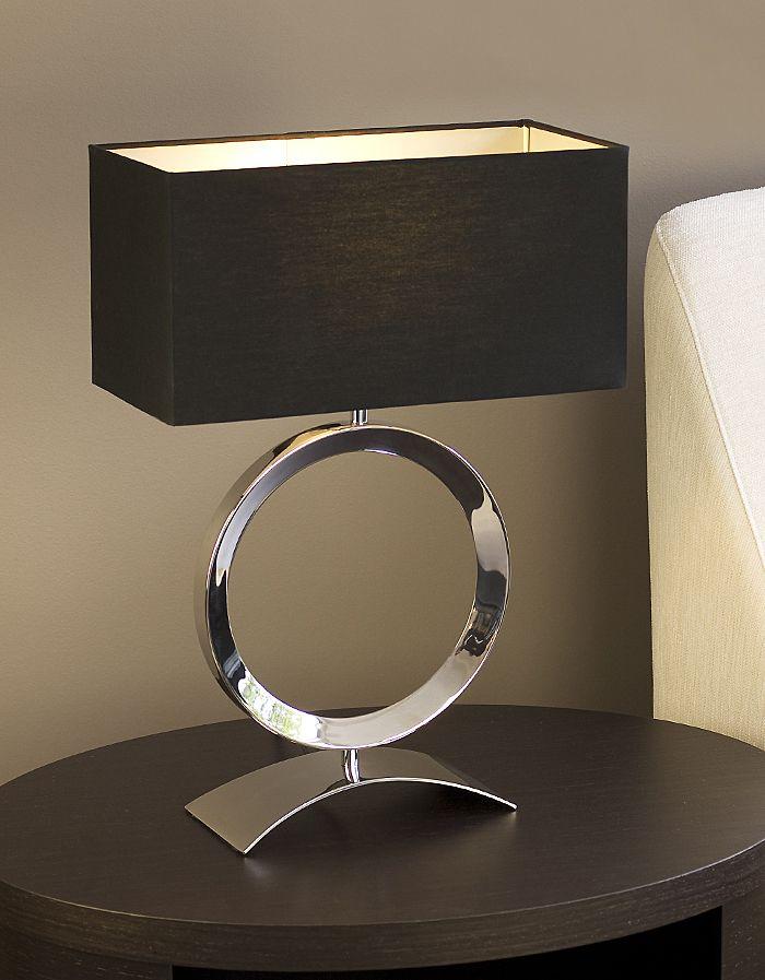 Delta black table lamp