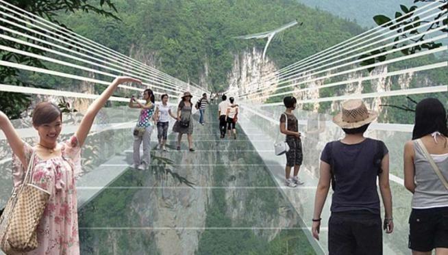Cina, ecco il ponte più spaventoso del mondo [Foto]