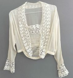 1915 blouse lace dickey - Google Search