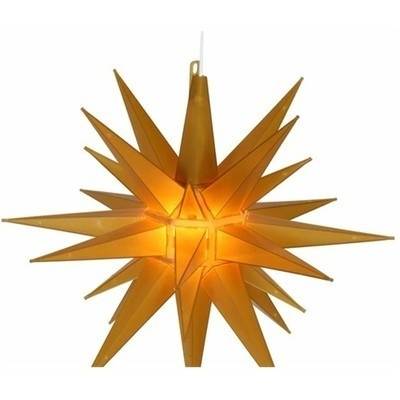 lighted indoor outdoor 14 yellow moravian star hanging christmas. Black Bedroom Furniture Sets. Home Design Ideas