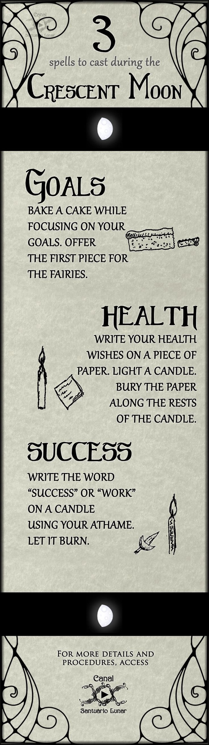 (Pinterest) 3 spells for the Waxing Moon - Magic, Witchcraft, Paganism, Wicca