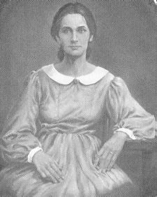 Nancy Hanks Lincoln, Abraham's mom. I do see the resemblance, but she's quite pretty!  Who knew?