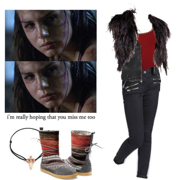 Octavia Blake - The 100 by shadyannon on Polyvore featuring mode, Michael Kors, Yves Saint Laurent, True Religion, TOMS, LeiVanKash and Topshop
