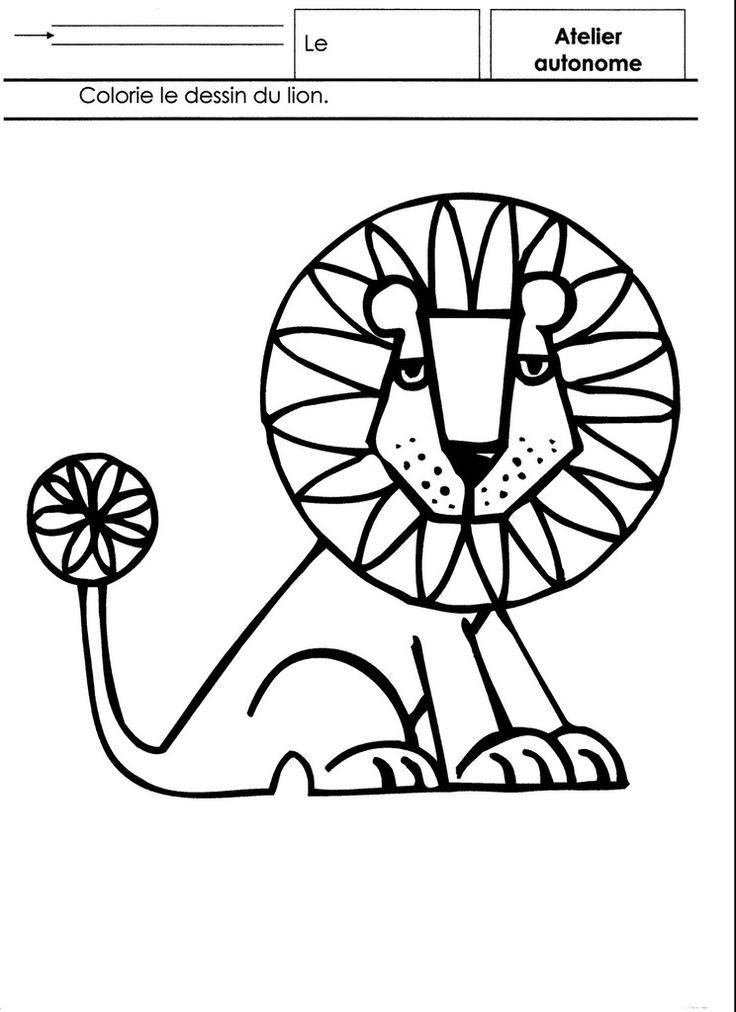 Dessins De Lion Pour Maternelle Coloriage Pour Maternelle Coloriage Alphabet Dessin Lion Afrique