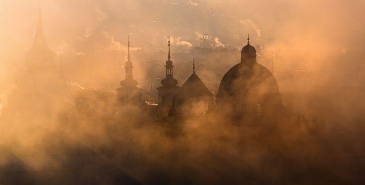 Foggy Prague Towers by Michal Vitásek on 500px