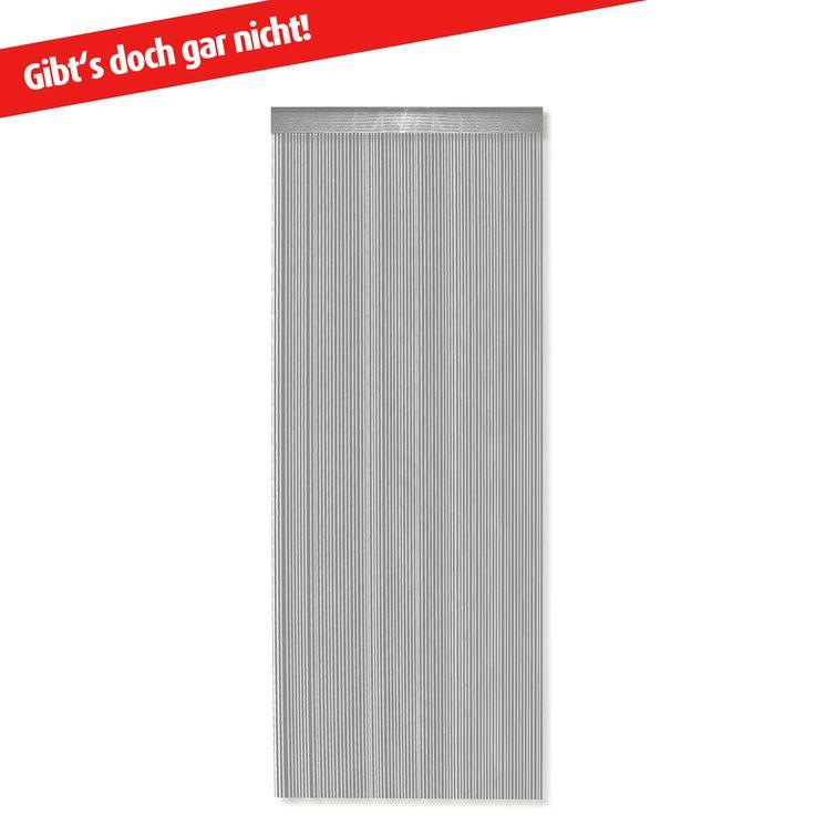 Fadenvorhang - silber - 90x245 cm