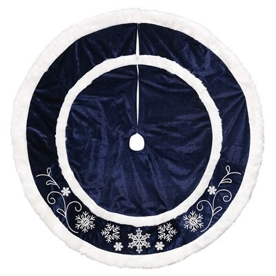 Holiday Living 56-in Blue Snowflake Tree Skirt