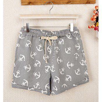 Con cordón Casual Impreso arremangados Pantalones cortos para las mujeres para Vender - La Tienda En Online IGOGO.ES