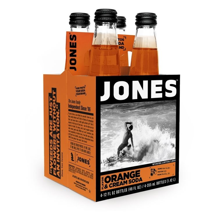 Jones Soda and Cream Jones Pure Cane Soda