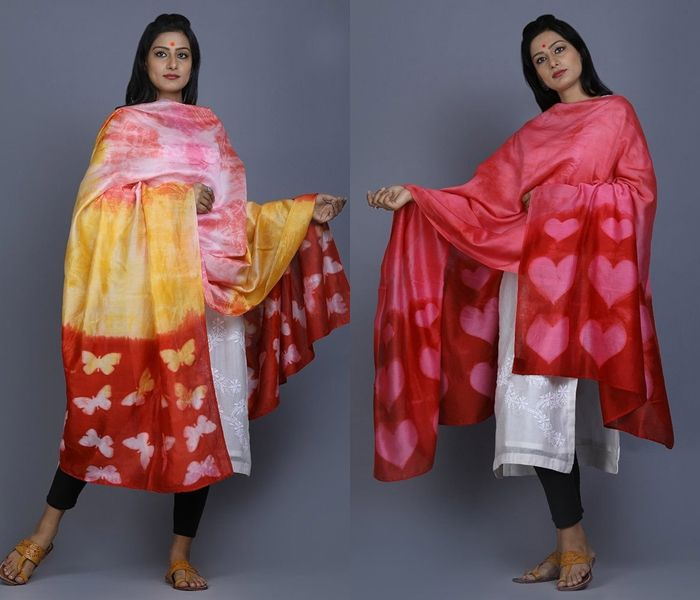 Dye Dupatta Designs for Plain Salwar Suits