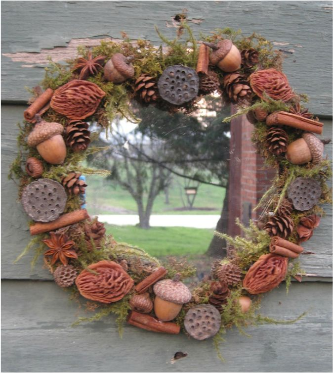 beautiful decorated mirror with natural materials tutorial at wwwnaturecraftercom - Decorated Mirror
