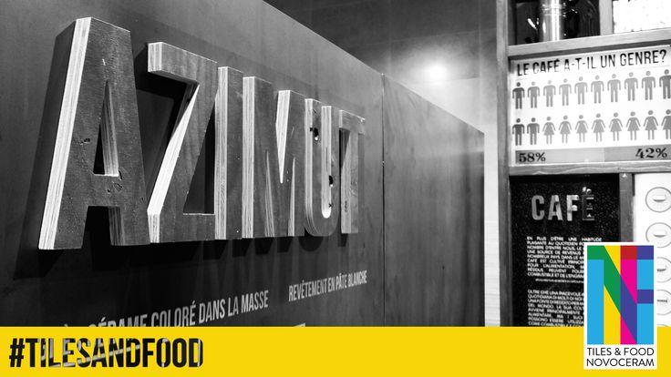 """Après #GEO, Novoceram fait découvrir aux visiteurs de son stand """"Tiles & Food Novoceram"""", sa nouvelle série #AZIMUT au #CERSAIE2014. Quelle est la personnalité de cette nouveauté ? Nous vous la dévoilerons très bientôt... http://www.novoceram.fr/blog/evenements-novoceram/novoceram-stand-cersaie-2014 #TILESANDFOOD #CERSAIE"""