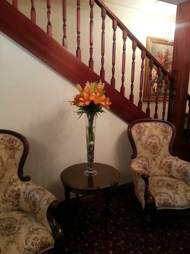 Pilsner display vase arrangement