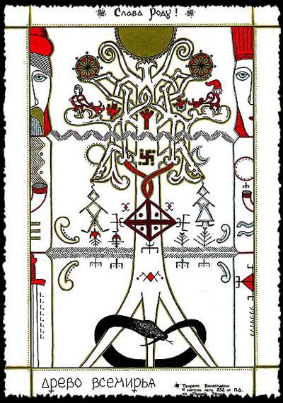 The mythological symbol of the World Tree was a very strong one, and survived throughout the Slavic folklore for many centuries after Christianisation. Three levels of the universe were located on the tree.
