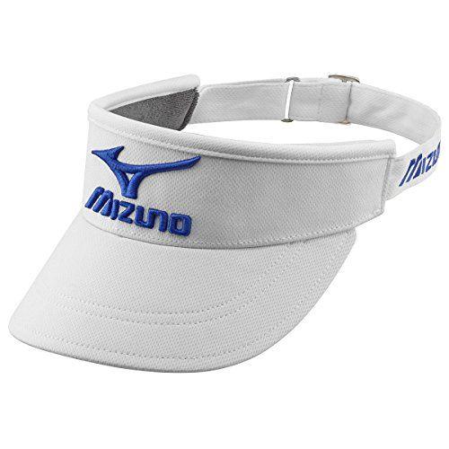 From 12.95:Mizuno Golf 2016 Mens Visor - White/royal - One Size