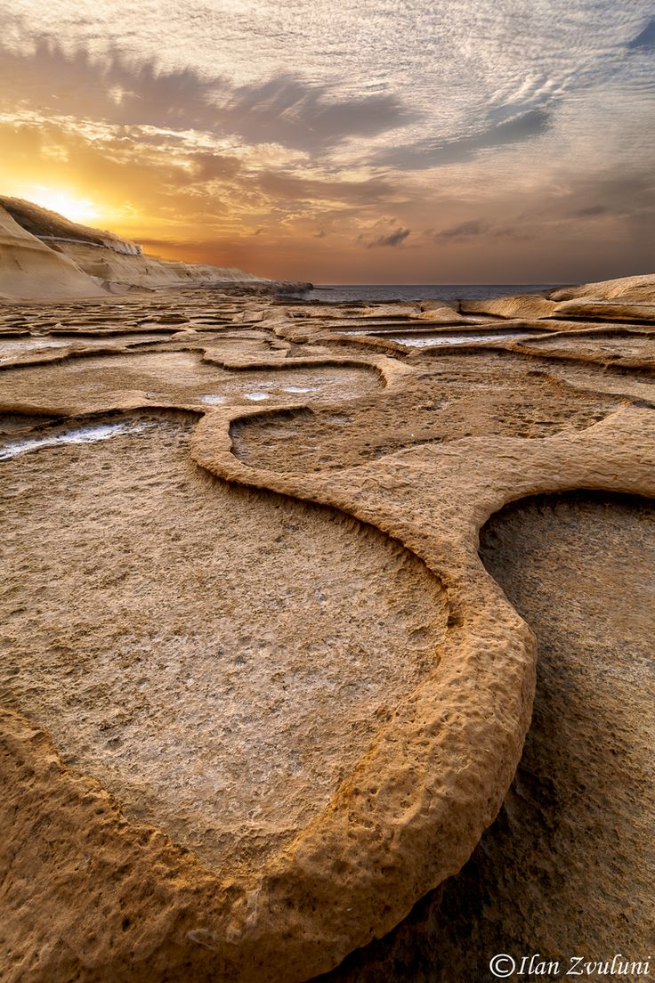 Salt Pools in Gozo, Malta