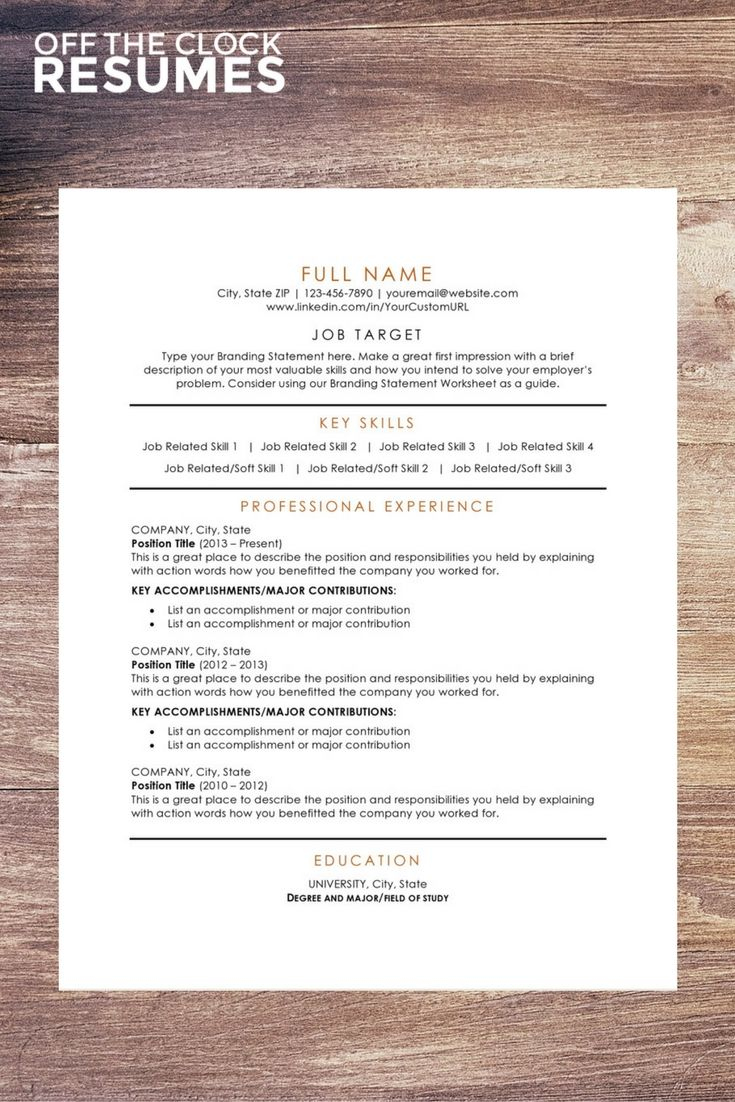 109 Best Resume Templates Images On Pinterest Interview Resume