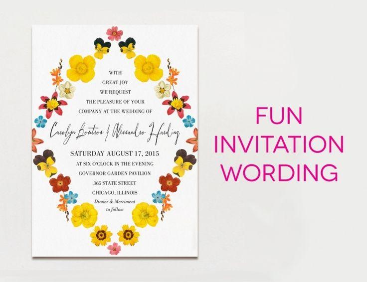 Fun Wedding Invitation Wording Ideas: Best 25+ Funny Wedding Invitations Ideas On Pinterest