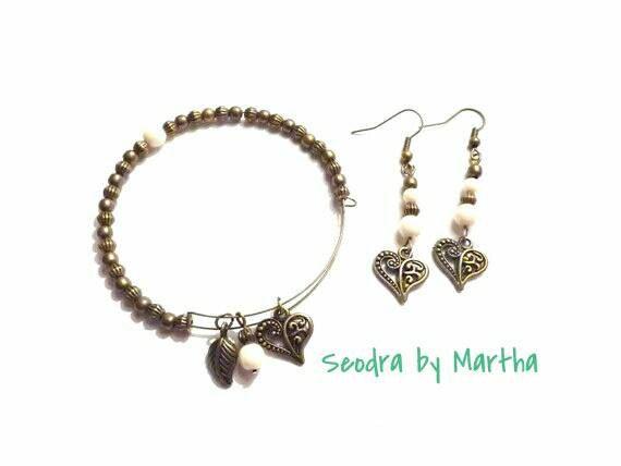 Modern vintage jewellery set https://www.etsy.com/uk/listing/248880487/modern-wedding-jewellery-love-jewellery