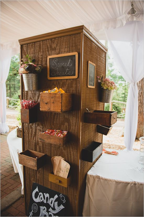 vintage style candy station prop from Charlotte vintage rentals @thedarlingbee