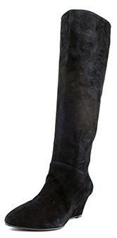 Marc Fisher Womens Verifies Suede Knee High Wedge Boot Shoe.