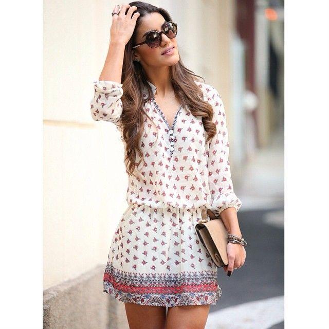 .@Camila Coelho   New look on the Blog! Tem um look lindo no Blog, com mistura de estampas! Vem...   Webstagram