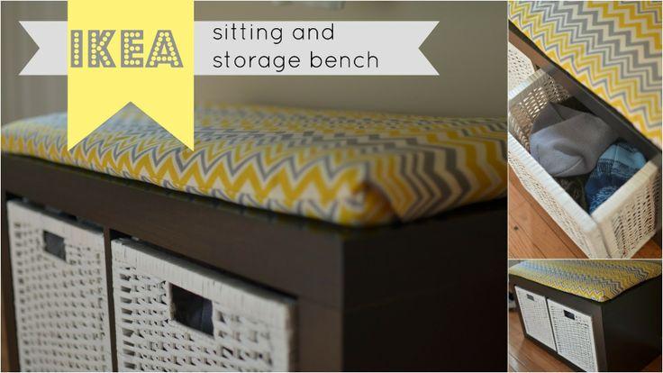 PlaceOfMyTaste: Sitting and storage bench { IKEA storage shelf unit }