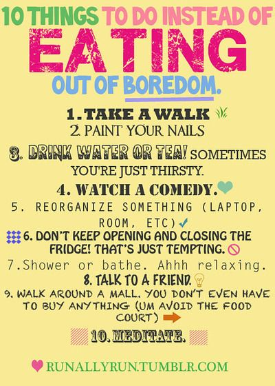10 Things To Do Instead of Eating Out of Boredom