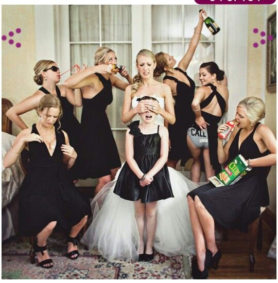 My bridesmades and I will for sure do this pic! Lol