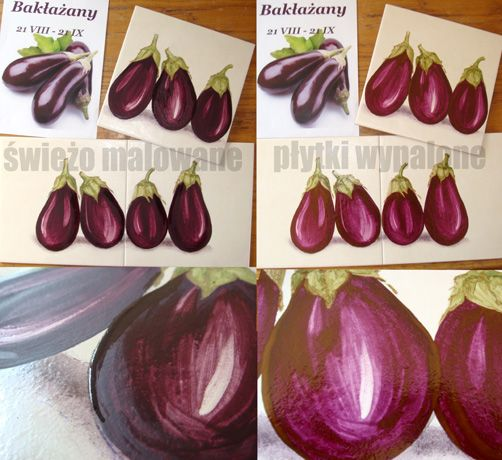 eggplants in the kitchen