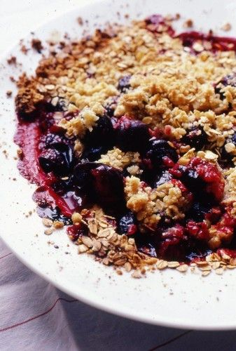 Nigel Slater - Recipes - Oat Plum Crumble - making this in the next week with a bag full of plums courtesy of a friend!