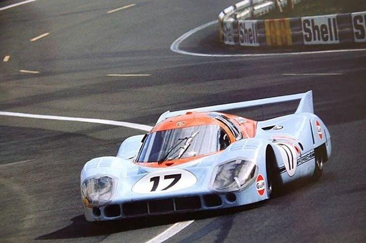 24 heures du Mans 1971 - Porsche 917LH #21- Pilotes : Vic Elford / Gérard Larousse - (Abandon)