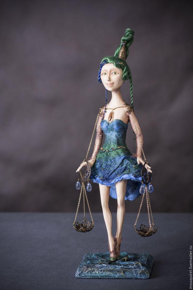 Купить Весы - комбинированный, коллекционная кукла, авторская кукла, Зодиак, знаки зодиака, знак зодиака