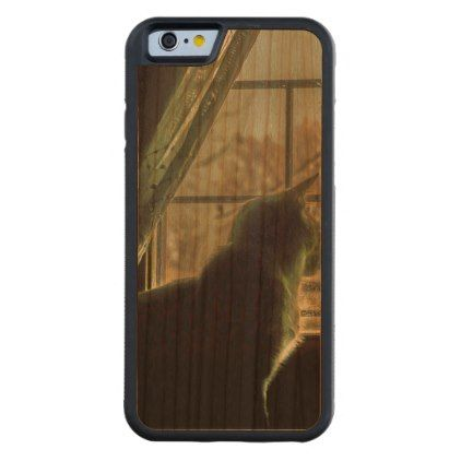 #Cat at Window House Carved Cherry iPhone 6 Bumper Case - #cute #gifts #cool #giftideas #custom