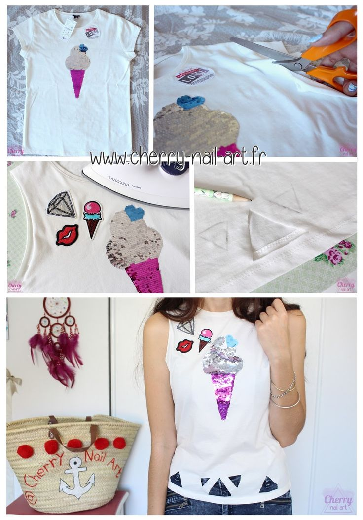diy-customisation-débardeur-tee-shirt-paillettes
