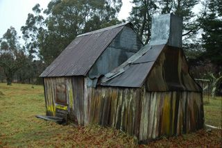 Click on this image for more information on the Bush Hut at Hanging Rock. You can buy handmade photographic greeting cards of this photo for $4.50. www.theshortcollection.com.au/Australian-Landscapes