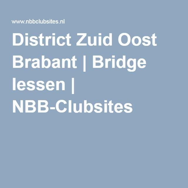 District Zuid Oost Brabant   Bridge lessen   NBB-Clubsites