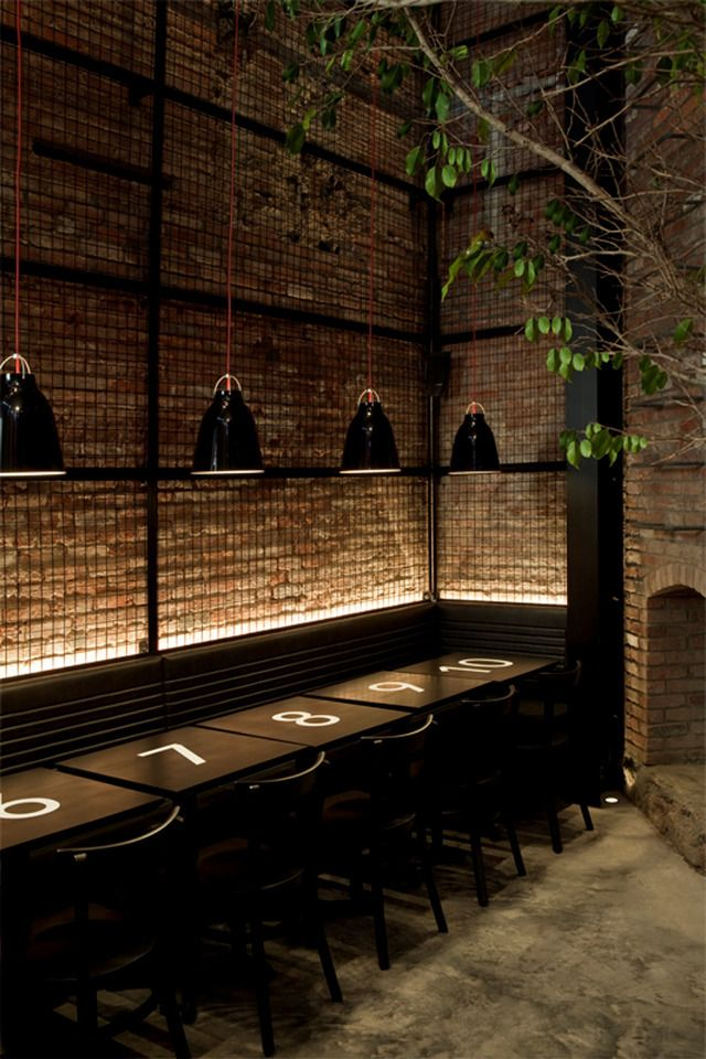 interior design architecture sports bar boutique pub masculine dark industrial raw restaurant café bistro inspiration