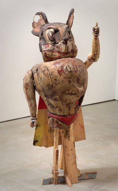Kristen Morgin.  Unfired ceramic sculptures.
